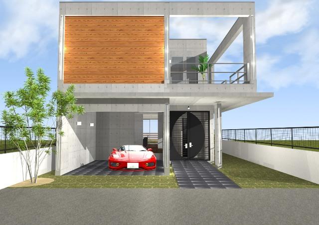 鉄筋コンクリート(RC)造 2階建てガレージハウス