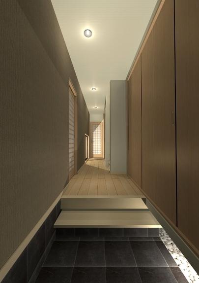 京都市上京区のうなぎの寝床といわれる敷地の和風注文住宅 ...