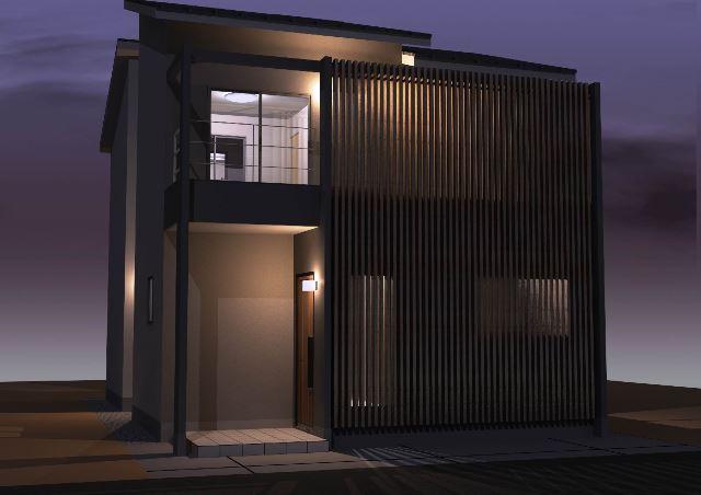 京都市山科区の木造2階建注文住宅プラン!デザインファーストのご提案!