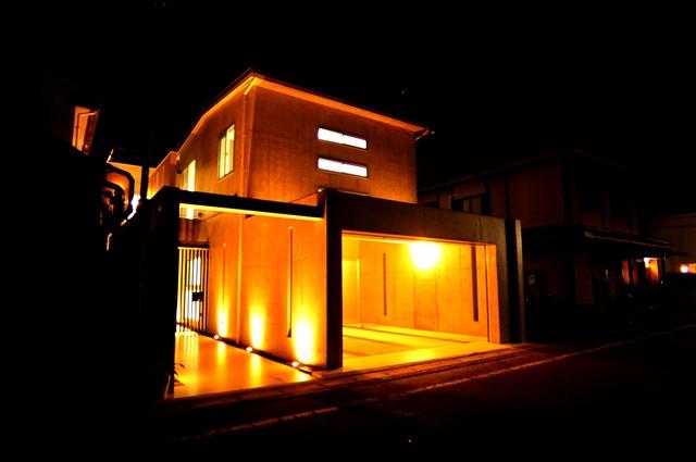注文住宅 デザイナーズ住宅 京都 ライトアップ2.JPG