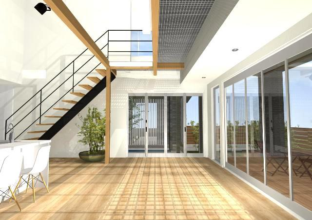 滋賀県米原市に風が通り抜ける家の注文住宅プラン!