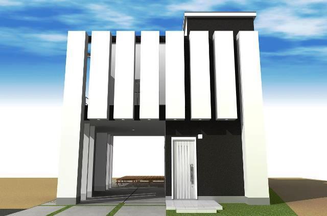 滋賀県東近江市八日市のシンプルモダン注文住宅プラン!デザインファーストのご提案!