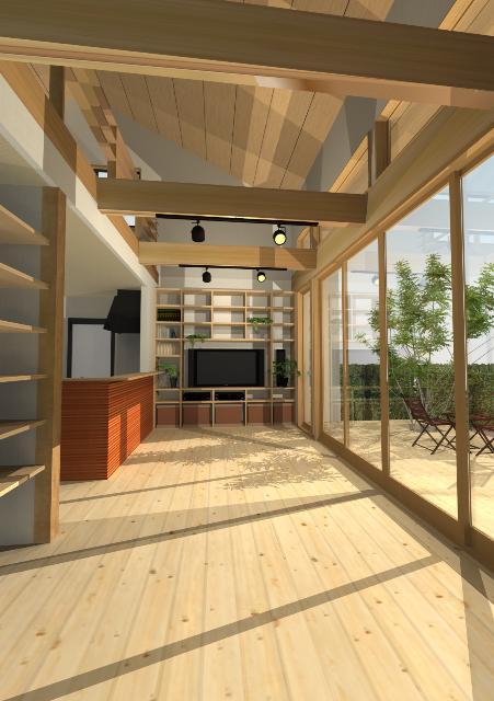 滋賀県大津市に開放感がある和モダン注文住宅プラン!デザインファーストのご提案!