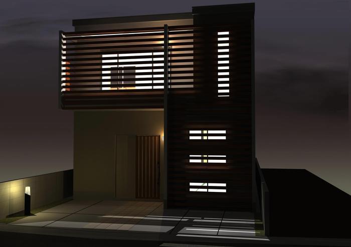 計画中、提案中の注文住宅!京都府向日市のナチュラルモダン住宅プラン!
