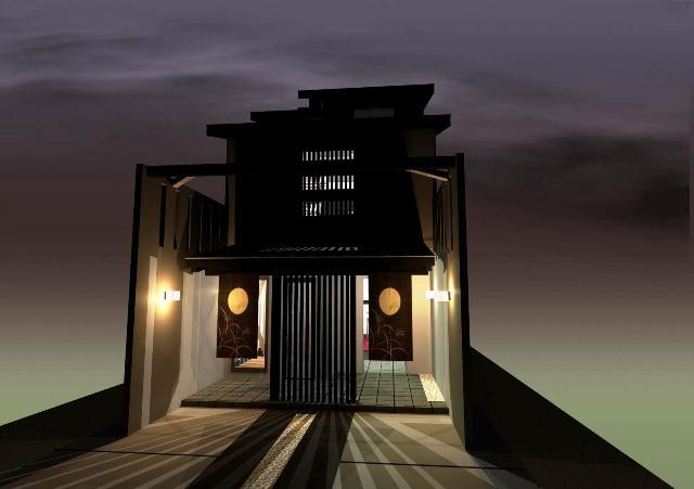 京都市上京区西陣のモダンな店舗プラン!デザインファーストのご提案!
