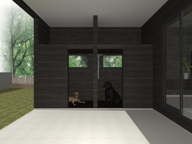 滋賀県大津市のペットと共に暮すシンプルモダンな注文住宅プラン!デザインファーストのご提案!