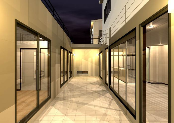 滋賀県大津市のライトコートを囲む注文住宅プラン!