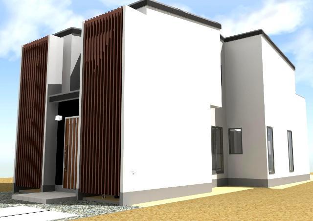 京都市伏見区のシンメトリーなシンプルモダン注文住宅プラン!デザインファーストのご提案!