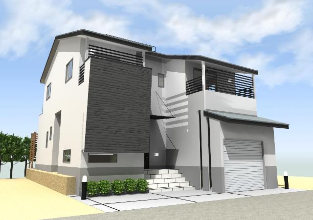 京都市東山区にルーフバルコニーのある和風モダン注文住宅プラン!