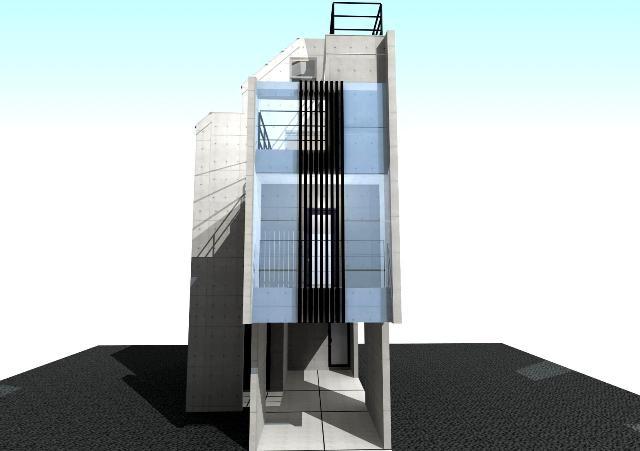 兵庫県東灘区の4層RC壁式工法で狭小住宅プラン!デザインファーストのご提案!