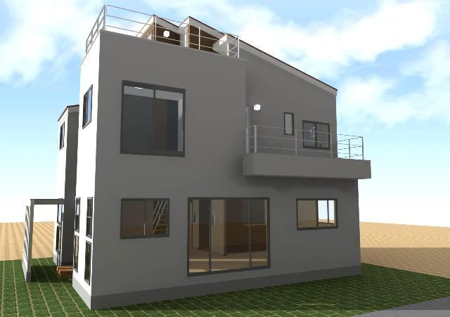 千葉県八千代市にルーフバルコニーのある洋風注文住宅プラン!デザインファーストのご提案!