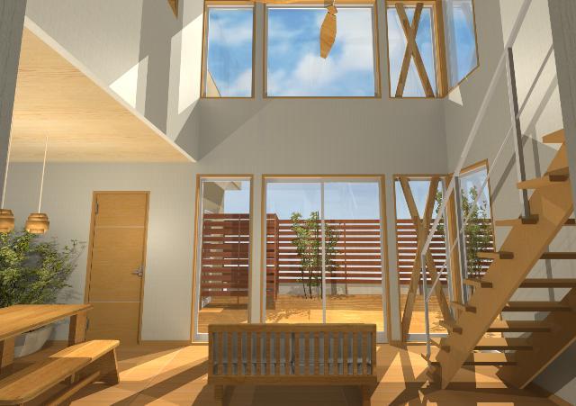 京都府京都市にインナーガレージのある注文住宅プラン!デザインファーストのご提案!