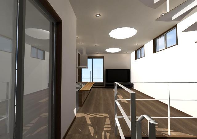京都市中京区に狭小間口4.9の和モダン注文住宅 プラン!デザインファーストのご提案!