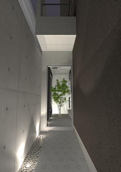 京都市北区の基礎一体のRC壁がある注文住宅プラン!