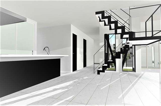 滋賀県大津市坂本に中庭・パティオのある注文住宅プラン!デザインファーストのご提案!