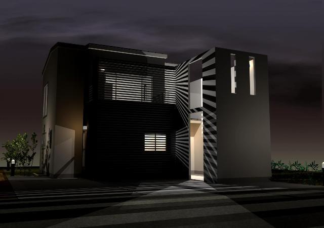 京都府八幡市のシンプルモダンなスタイリッシュ注文住宅プラン!デザインファーストのご提案!