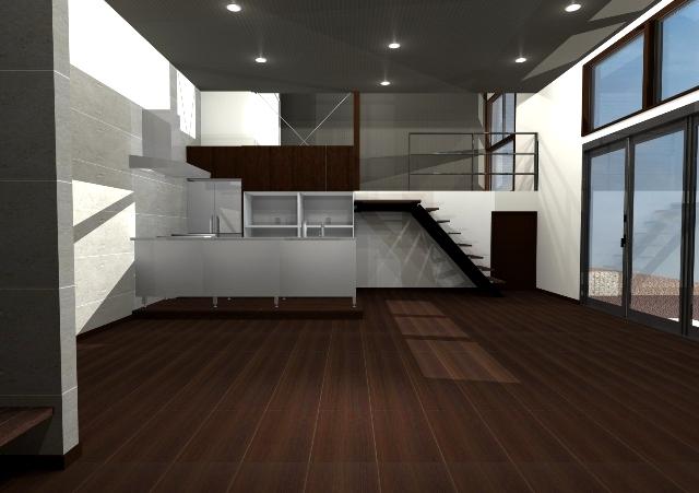 東京都世田谷区の20帖のLDKにサブリビング6帖のある注文住宅プラン!デザインファーストのご提案!