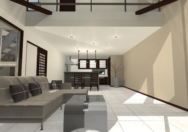 シンプルモダンな斜め壁の注文住宅プラン!デザインファーストのご提案!