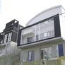 京都府 傾斜地に混構造(RC+木造)のモダン住宅1