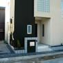 京都府宇治市・R壁の外壁、パティオのあるモダン住宅