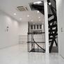 京都市東山区の変形した狭小地にらせん階段・ルーフバルコニーのある狭小和モダン注文住宅