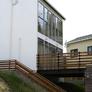 京都府宇治市の注文住宅 傾斜地に建つ開放的な家