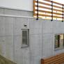 京都府宇治市・傾斜地に建つRC造と木造の混構造の家
